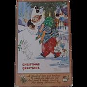 Early Christmas Greeting Post Card