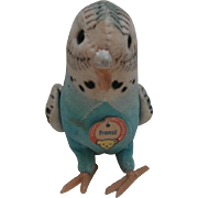 Vintage Steiff Franzi Budgie, Parakeet, Steiff Chest Tag, 1968 to 1977
