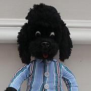 Vintage Schuco Bigo Bello Black Poodle, Schuco Label