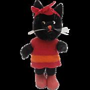 Wonderful Vintage Kersa Lucky  Black Pussy Cat