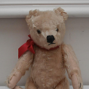 Hans,  VIntage Steiff Original Teddy Bear,1950's Squeaker Works, Steiff Button