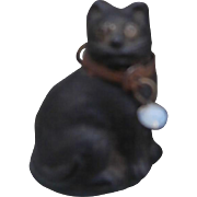 Sweet Early Little Lucky Black Cat Charm, Dolls House