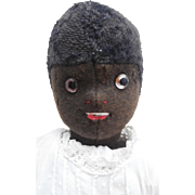 Rare Early  Felt Black English Harwin Cloth Doll