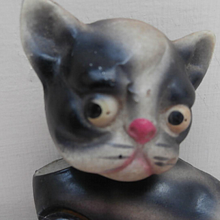 Early  Googly Eye Comical Celluloid Cat / Dog A / F