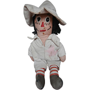 Sweet  Vintage Little Raggedy Andy, Scarecrow Type Cloth Doll