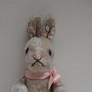 Well Loved Steiff Niki Rabbit, No Button, 1952 to 1964