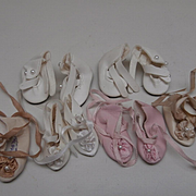Six Pairs of Doll Shoes