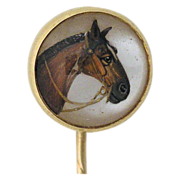 Victorian Crystal Horse Stick Pin--Essex Crystal