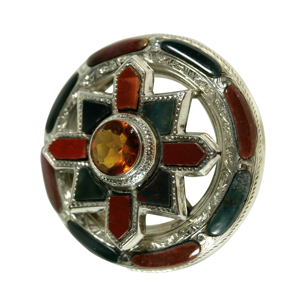 A Celtic Stunner - A Victorian Agate Brooch