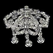 Divine Edwardian Platinum & Diamond Brooch Creation