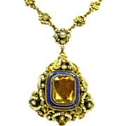 19th Century Austro - Hungarian Silver Gilt Necklace