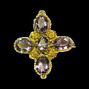 Glowing Georgian Amethyst Brooch/Pendant