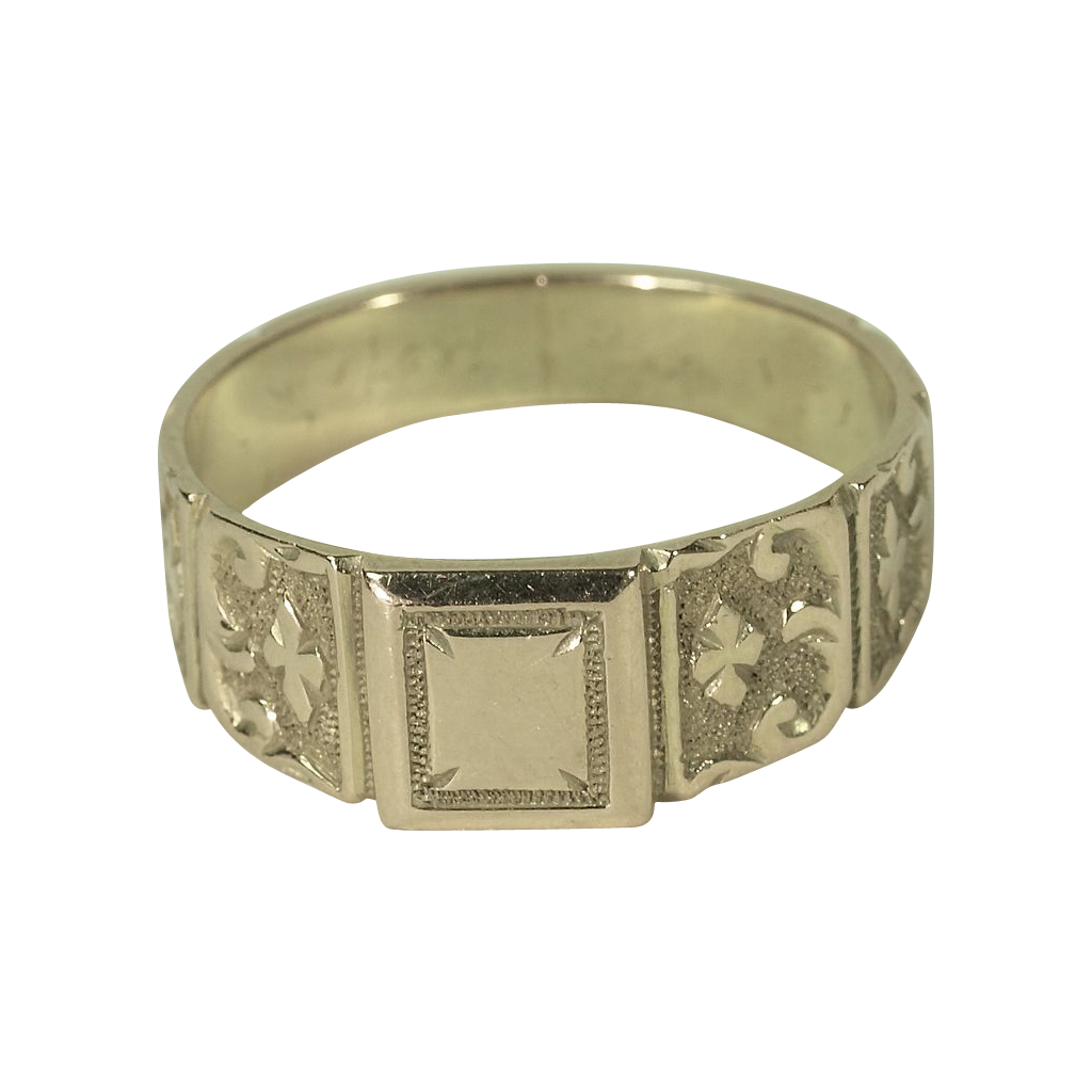 "18K English ""Signet"" Ring Hallmarked 1917"