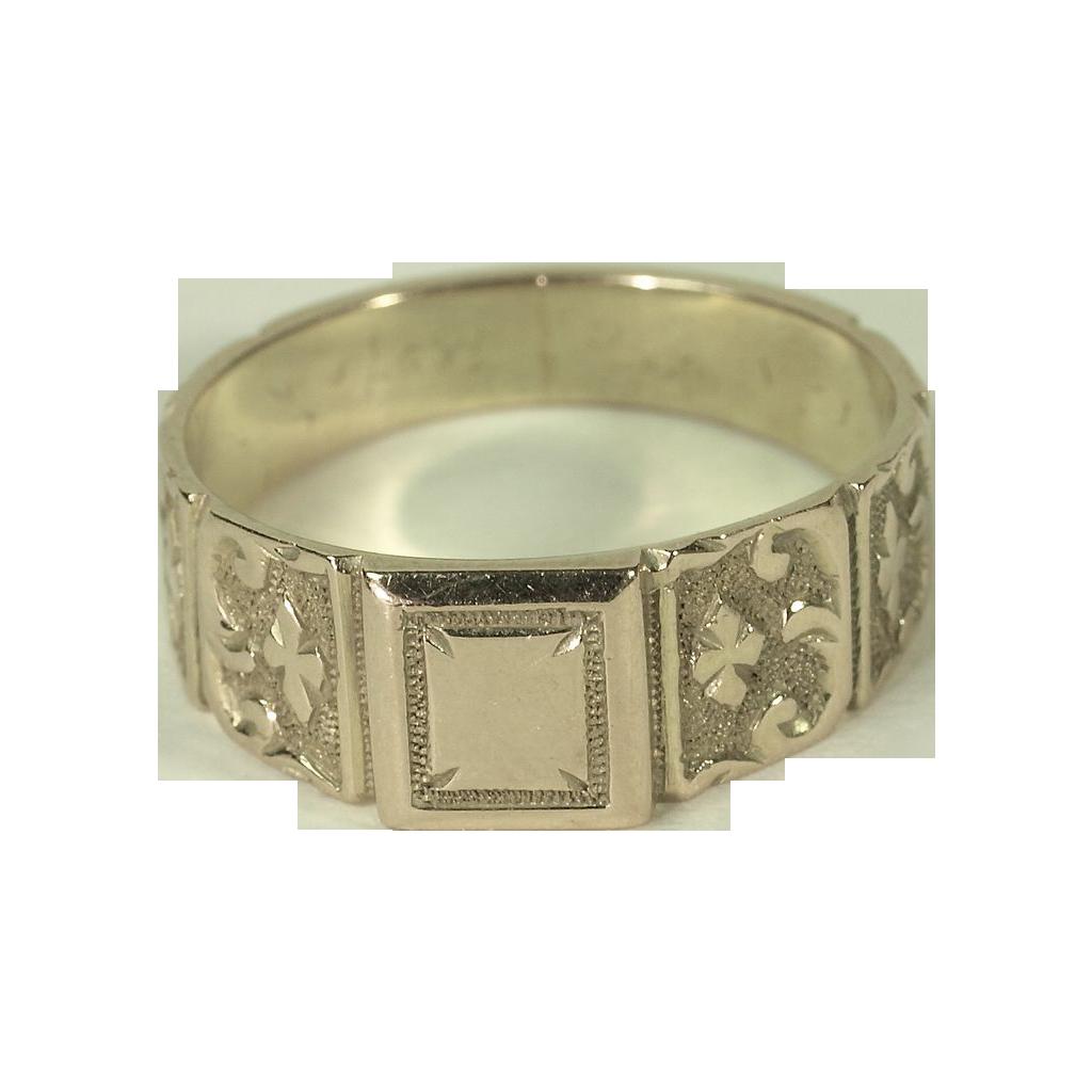 "18K English ""Signet"" Ring Hallmarked 1917"
