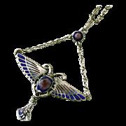 Charles Horner Arts & Crafts Sterling & Enamel Pendant