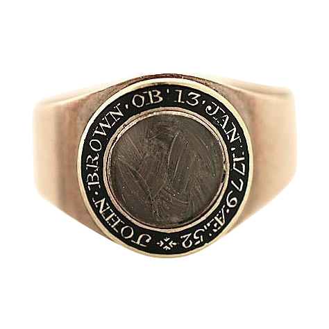 Double Memorial-Georgian Ring-Commemorating a Male & Female Passing