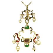 Renaissance revival Necklace - Late Victorian
