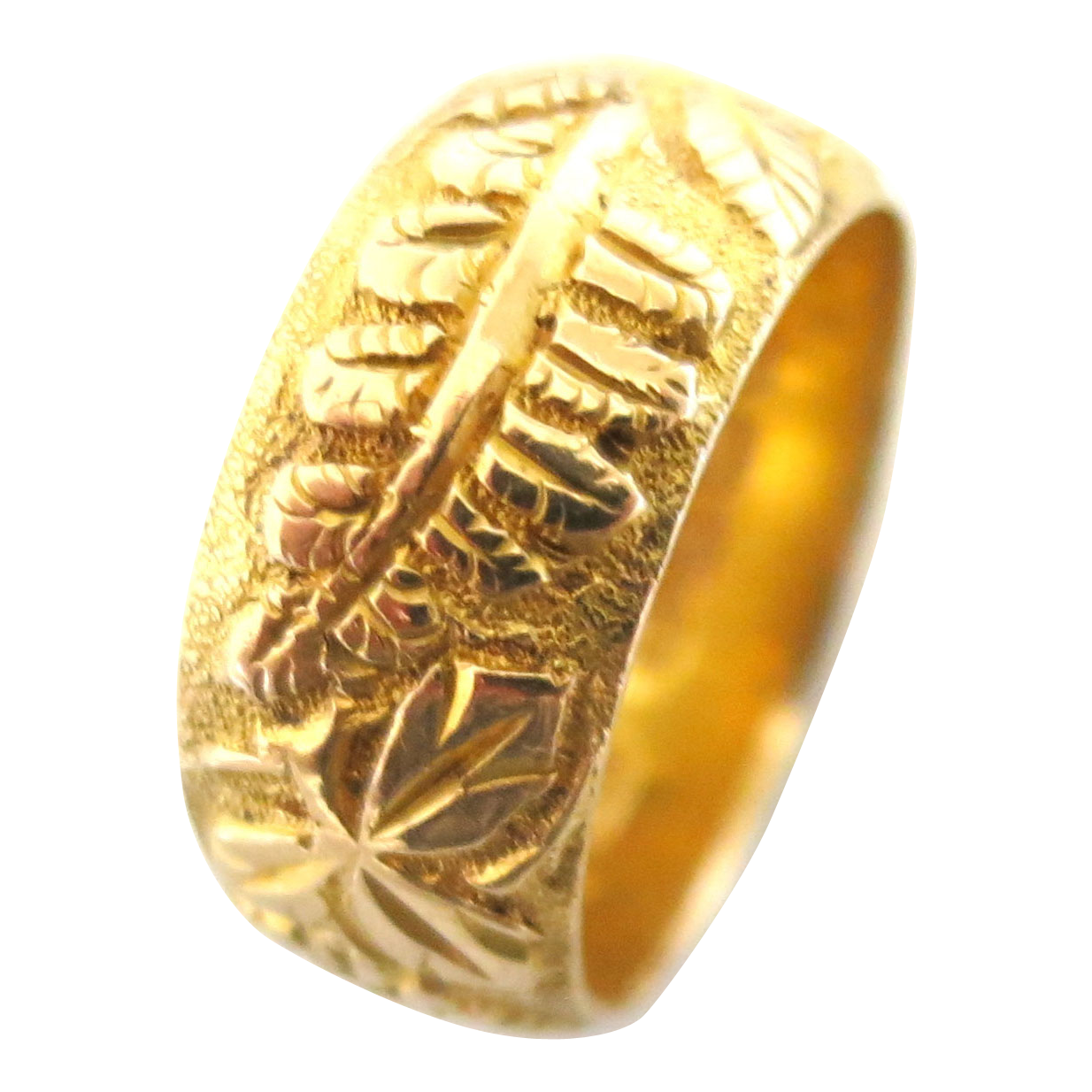 Ornate Victorian 18K Wedding Band