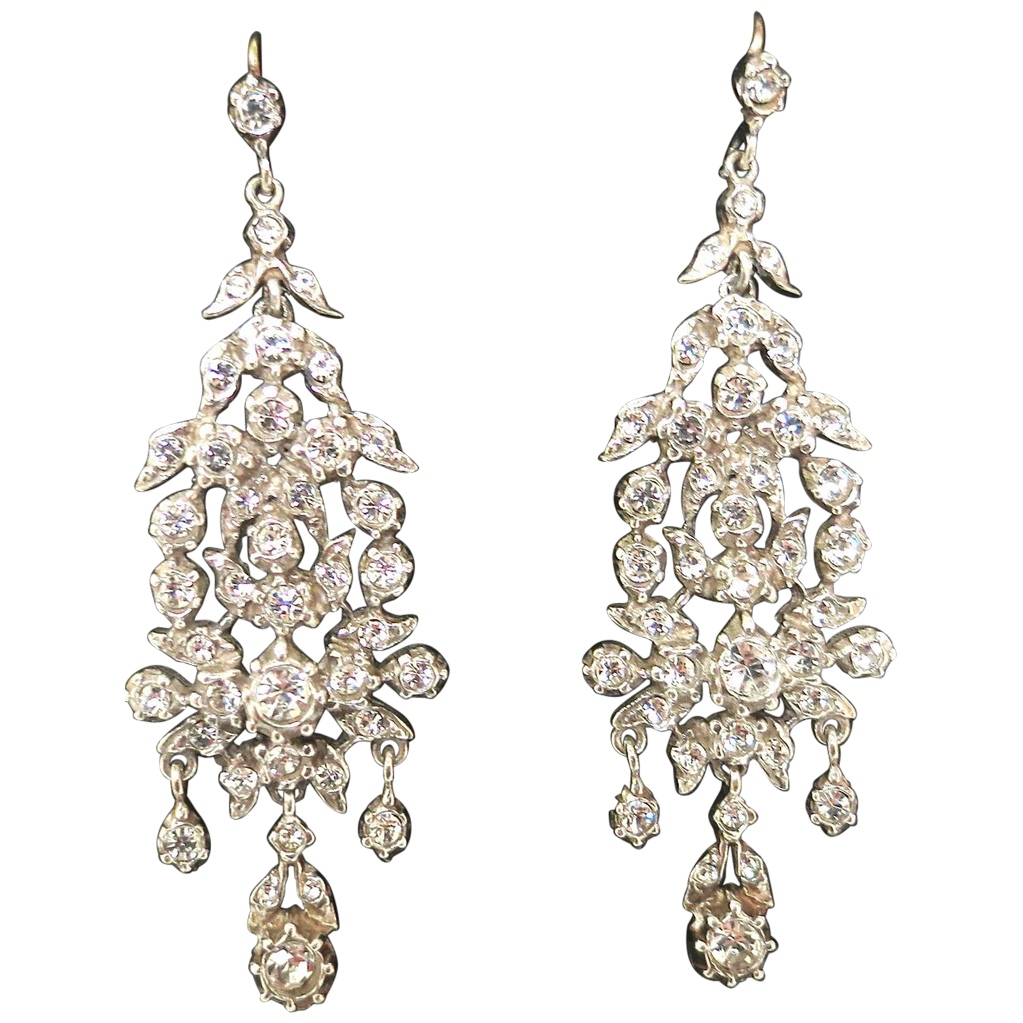 Early 20th Century Sterling & Past Earrings