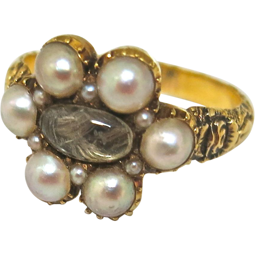 Antique Georgian English Mourning Ring