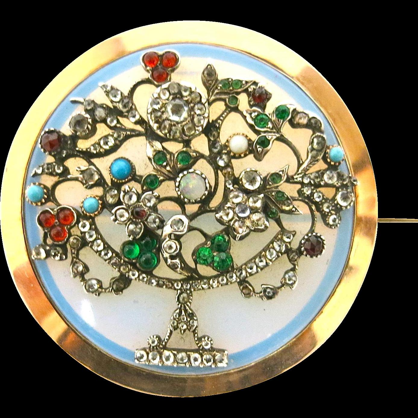 Georgian Giardinetti Pendant/ Brooch