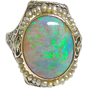 Opulent Opal Ring
