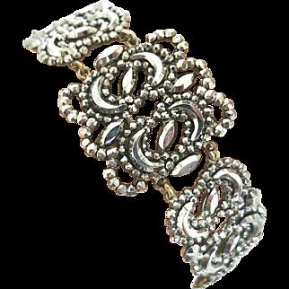 Bright Delight--Georgian Cut Steel Bracelet