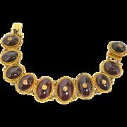Fabulous Georgian Garnet Bracelet