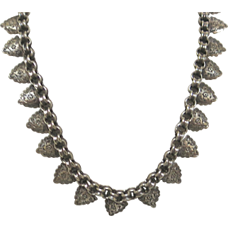 Sterling Victorian Necklace With Fine Engraving