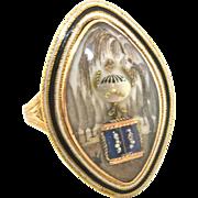 Finest georgian Memorial ring Dated 1789