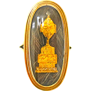 Imaginative Georgian Memorial Ring