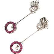 Delicate Vintage Ruby & Diamond Earrings
