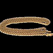 "Desirable Georgian Gilded ""Hand"" clasp Chain"