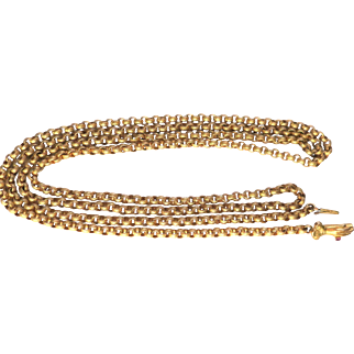 "Desirable Georgian Gilded ""Hand"" clasp Chain"