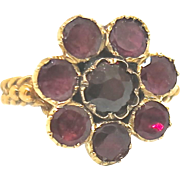 Charming Georgian Garnet Cluster Ring