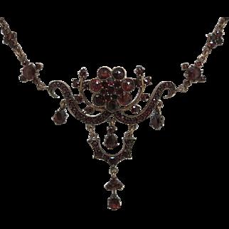 Glowing Bohemian Garnet Necklace