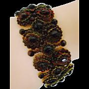 Dramatic Victorian Garnet Bracelet
