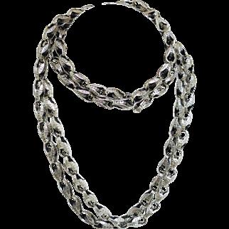 Dramatic Art Nouveau Sterling Silver Chain