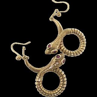 "Victorian ""Snake"" Earrings"