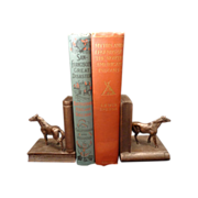Bronze clad horses pair bookends circa 1920