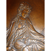 Vintage Bronze Hindu Goddess Plaque