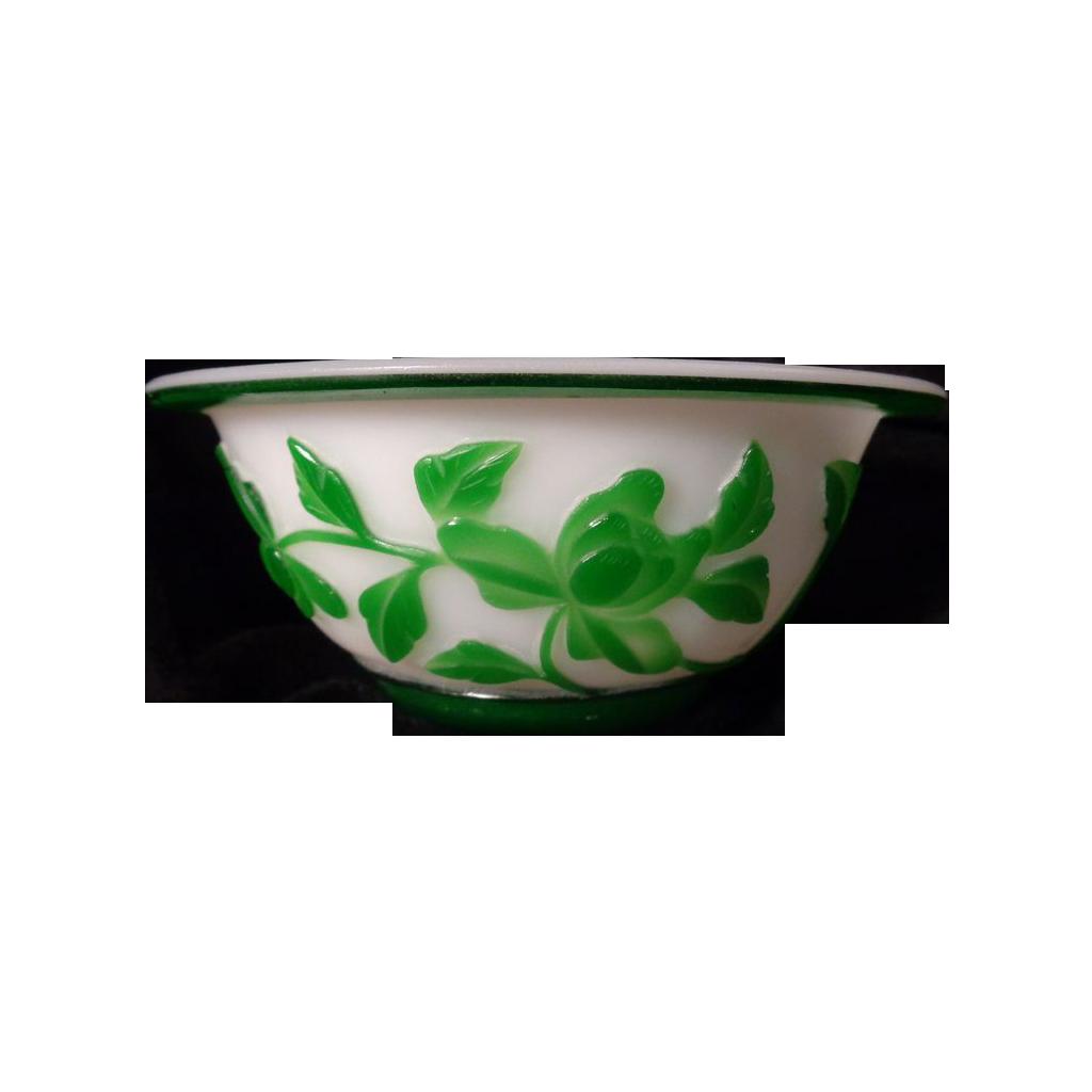 Stunning Peking Glass Bowl