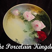 Haviland Limoges Elizabeth Stoner Naturalistic Tea Roses Plate