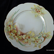 French Haviland Limoges Springtime Daffodils porcelain plate