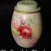 Romantic Sweetheart Roses Favorite Bavaria Antique Talcum Shaker