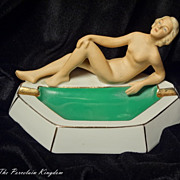 Art Deco nude bathing beauty ashtray  tobacciana - Red Tag Sale Item