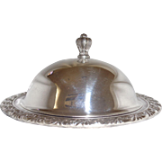 William Rogers Silver Plate Covered Three Piece Butter Dish