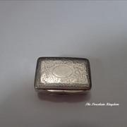 Georgian Birmingham sterling silver Thomas Shaw vinaigrette dated 1835