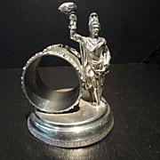 Figural Napkin Ring, Warrior