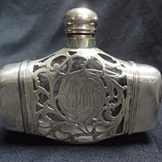 Sterling Overlay Double Flask